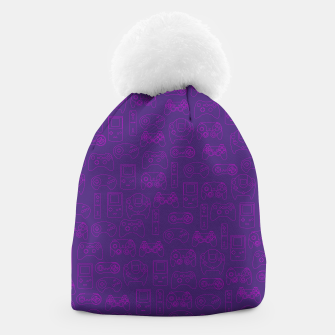 Thumbnail image of Gamers' Controllers - Plum Purples Beanie, Live Heroes