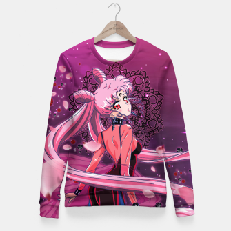 Thumbnail image of Sailor Moon Crystal Black Lady Fitted Waist Sweater, Live Heroes