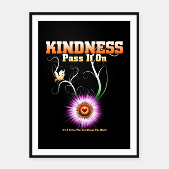 Thumbnail image of KINDNESS - Pass It On Starburst Heart Framed poster, Live Heroes