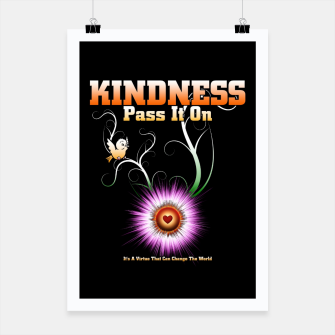 Thumbnail image of KINDNESS - Pass It On Starburst Heart Poster, Live Heroes