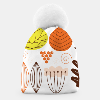 Thumbnail image of Amazing beanie with Natural handdrawn Leaves, Live Heroes