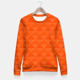 Thumbnail image of Orange geometric pattern Fitted Waist Sweater, Live Heroes