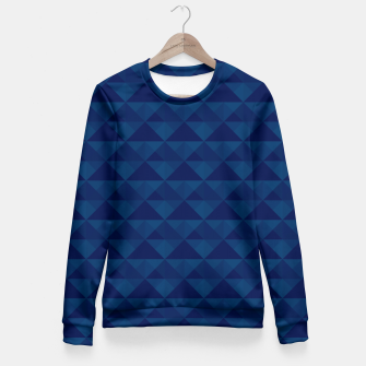 Thumbnail image of Geometrical navy pattern Fitted Waist Sweater, Live Heroes
