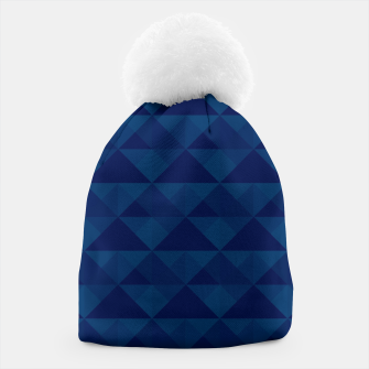 Thumbnail image of Geometrical navy pattern Beanie, Live Heroes