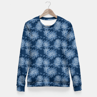 Thumbnail image of Abstract floral print Fitted Waist Sweater, Live Heroes