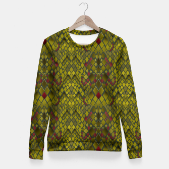 Thumbnail image of Snake skin print pattern Fitted Waist Sweater, Live Heroes