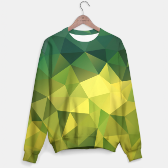 Miniature de image de Abstract background of triangles polygon wallpaper in green yellow lime colors Sweater, Live Heroes