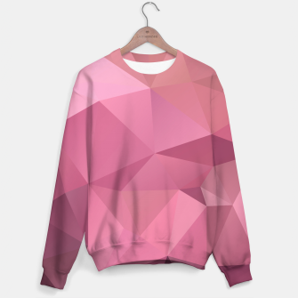 Miniature de image de Abstract background of triangles polygon wallpaper in soft pink rose colors Sweater, Live Heroes