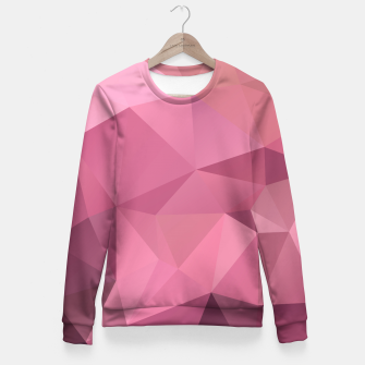 Thumbnail image of Abstract background of triangles polygon wallpaper in soft pink rose colors Fitted Waist Sweater, Live Heroes