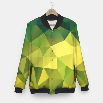 Miniature de image de Abstract background of triangles polygon wallpaper in green yellow lime colors Baseball Jacket, Live Heroes