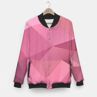 Miniature de image de Abstract background of triangles polygon wallpaper in soft pink rose colors Baseball Jacket, Live Heroes