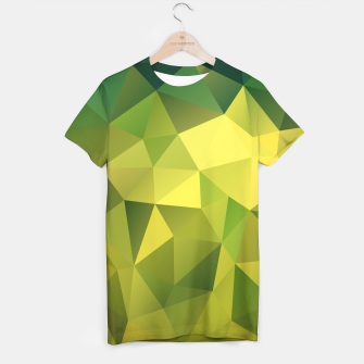 Miniature de image de Abstract background of triangles polygon wallpaper in green yellow lime colors T-shirt, Live Heroes