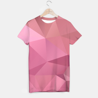 Miniature de image de Abstract background of triangles polygon wallpaper in soft pink rose colors T-shirt, Live Heroes