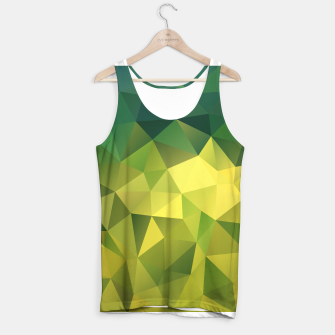 Miniaturka Abstract background of triangles polygon wallpaper in green yellow lime colors Tank Top, Live Heroes
