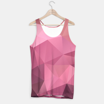 Miniaturka Abstract background of triangles polygon wallpaper in soft pink rose colors Tank Top, Live Heroes