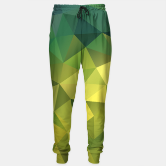 Miniature de image de Abstract background of triangles polygon wallpaper in green yellow lime colors Sweatpants, Live Heroes