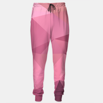 Miniature de image de Abstract background of triangles polygon wallpaper in soft pink rose colors Sweatpants, Live Heroes
