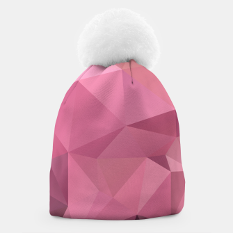 Thumbnail image of Abstract background of triangles polygon wallpaper in soft pink rose colors Beanie, Live Heroes