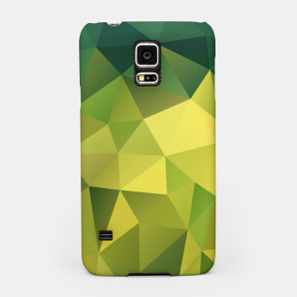 Thumbnail image of Abstract background of triangles polygon wallpaper in green yellow lime colors Samsung Case, Live Heroes