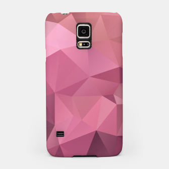 Thumbnail image of Abstract background of triangles polygon wallpaper in soft pink rose colors Samsung Case, Live Heroes
