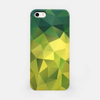 Thumbnail image of Abstract background of triangles polygon wallpaper in green yellow lime colors iPhone Case, Live Heroes