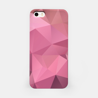 Thumbnail image of Abstract background of triangles polygon wallpaper in soft pink rose colors iPhone Case, Live Heroes