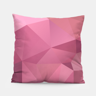 Miniaturka Abstract background of triangles polygon wallpaper in soft pink rose colors Pillow, Live Heroes