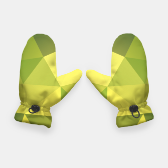 Thumbnail image of Abstract background of triangles polygon wallpaper in green yellow lime colors Gloves, Live Heroes