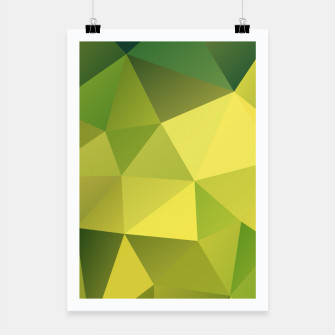 Miniaturka Abstract background of triangles polygon wallpaper in green yellow lime colors Poster, Live Heroes