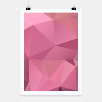 Miniaturka Abstract background of triangles polygon wallpaper in soft pink rose colors Poster, Live Heroes