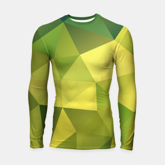 Imagen en miniatura de Abstract background of triangles polygon wallpaper in green yellow lime colors Longsleeve Rashguard , Live Heroes