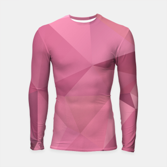 Imagen en miniatura de Abstract background of triangles polygon wallpaper in soft pink rose colors Longsleeve Rashguard , Live Heroes