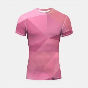 Thumbnail image of Abstract background of triangles polygon wallpaper in soft pink rose colors Shortsleeve Rashguard, Live Heroes