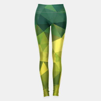 Thumbnail image of Abstract background of triangles polygon wallpaper in green yellow lime colors Leggings, Live Heroes