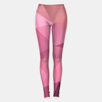 Thumbnail image of Abstract background of triangles polygon wallpaper in soft pink rose colors Leggings, Live Heroes