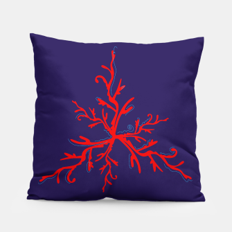 Thumbnail image of Artistic amazing Pillow Blue with RED CORAL, Live Heroes