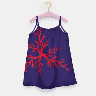 Thumbnail image of Girls artistic Vintage DRESS : RED BLUE DEEP, Live Heroes