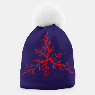 Thumbnail image of Amazing hand drawn Illustrated Beanie : RED CORAL, Live Heroes