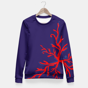Thumbnail image of Fitted Waist Sweater : BLUE WITH RED Corals, Live Heroes