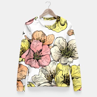 Thumbnail image of Colorful Poppies Fitted Waist Sweater, Live Heroes
