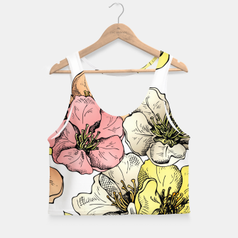 Thumbnail image of Colorful Poppies Crop Top, Live Heroes