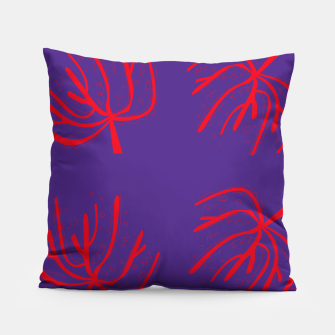 Thumbnail image of Amazing handdrawn Artistic PILLOW RED PURPLE, Live Heroes