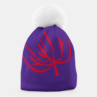 Thumbnail image of Fashion artistic Beanie : Coral Red Mystique, Live Heroes