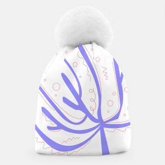 Thumbnail image of Coral Original handdrawn Beanie Purple on white, Live Heroes