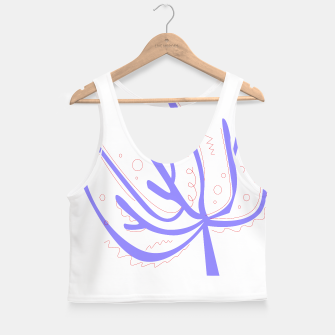 Thumbnail image of Amazing Crop Top white with Corals Purple, Live Heroes