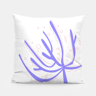 Thumbnail image of Designers artistic Pillow : Purple corals on white, Live Heroes
