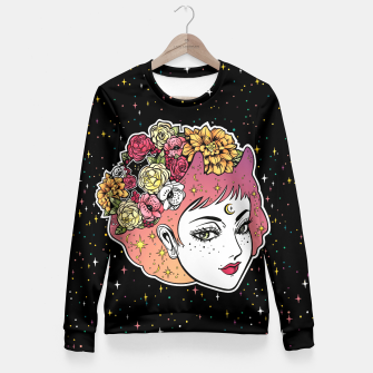 Thumbnail image of Floral Venus Fitted Waist Sweater, Live Heroes