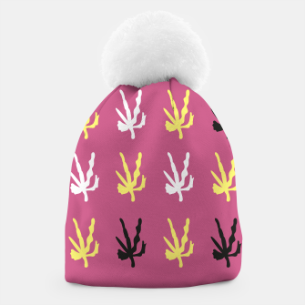 Thumbnail image of DESIGNERS WINTER BEANIE : PINK CORALS ETHNO, Live Heroes