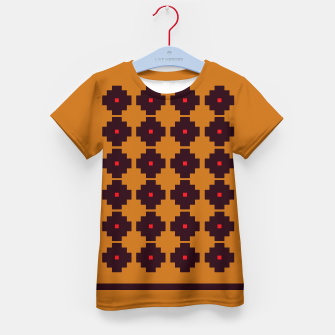 Thumbnail image of Kids artistic T-Shirt : Ethno Turkey Brown, Live Heroes
