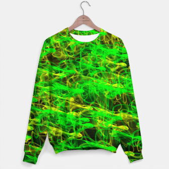 Thumbnail image of glowing art (green and yellow) Sweater, Live Heroes